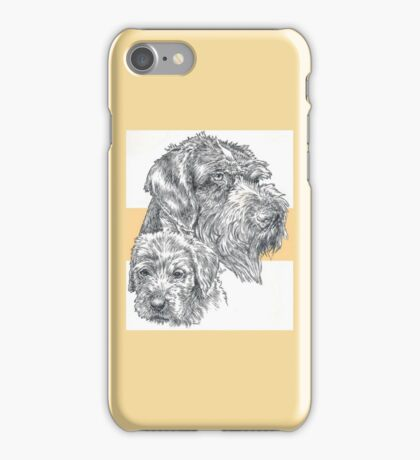 German Wire-haired Pointer, Father and Son iPhone Case/Skin