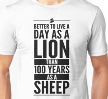 Live The Day Like A Lion - White Unisex T-Shirt