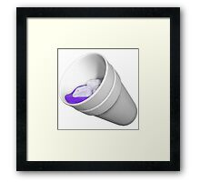 sippin' on lean Framed Print