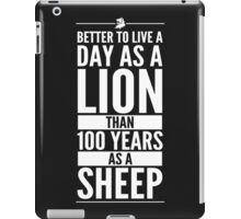 Live The Day Like A Lion - Black iPad Case/Skin