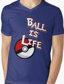 Poke-Ball is Life Mens V-Neck T-Shirt