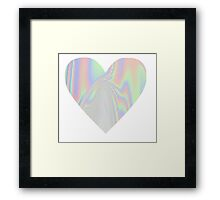 Pastel Heart Framed Print