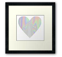 Pastel Heart Framed Print