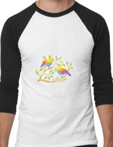 Loving birds - Regenbogen-Vögel Men's Baseball ¾ T-Shirt