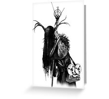 THE HERMIT - HEX TAROT Greeting Card