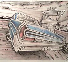 Chevy Bonneville drawing by RobCrandall