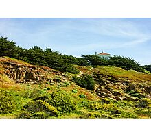San Francisco Colorful Spring - Hilltop House With a View Photographic Print
