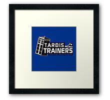 TARDIS Trainers Framed Print