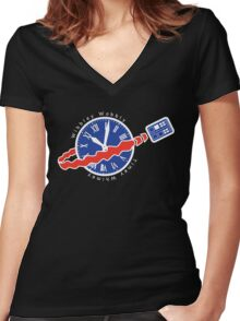 TARDIS Space! Women's Fitted V-Neck T-Shirt