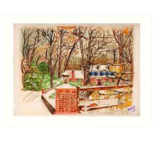 Winter House Art Print