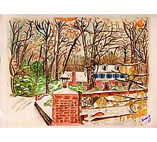 Winter House Photographic Print