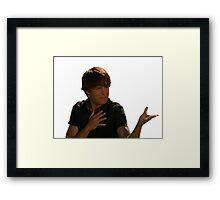 ZAc face Framed Print