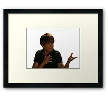 ZAc face Framed Print