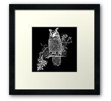 Great Horned Owl Illustration Framed Print
