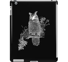 Great Horned Owl Illustration iPad Case/Skin