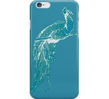 Peacock Illustration in Turquoise iPhone Case/Skin