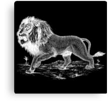 White Lion Art Canvas Print