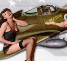 Air- A- Cutie (Republic P-39 Airacobra) Sticker