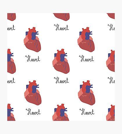 human heart pattern Photographic Print