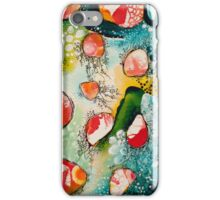 Abstract Painting - Drifting in Turquoise iPhone Case/Skin