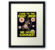 Come to the Doc' Side Framed Print