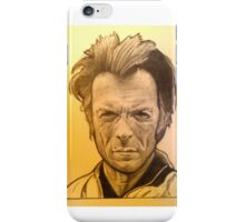Sepia Clint Eastwood drawing iPhone Case/Skin