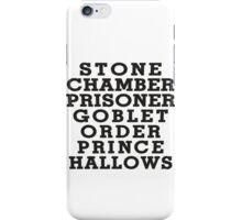 Stone Chamber Prisoner Goblet Order Prince Hallows - Harry Potter Books, List of Harry Potter Books, Harry Potter Shirt iPhone Case/Skin