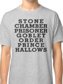 Stone Chamber Prisoner Goblet Order Prince Hallows - Harry Potter Books, List of Harry Potter Books, Harry Potter Shirt Classic T-Shirt
