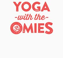 Yoga With The Omies - Yoga Top, Funny Yoga Quote, Red Ink Women's Tank Top