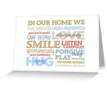 In Our Home // Bright Greeting Card