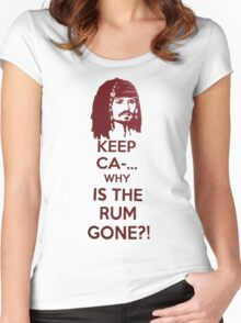 Keep Ca-... Why Is The Rum Gone?! Women's Fitted Scoop T-Shirt
