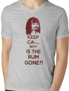 Keep Ca-... Why Is The Rum Gone?! Mens V-Neck T-Shirt