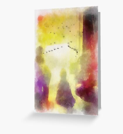Night Time Assistance Greeting Card