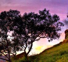 Sunset over Topanga Canyon, CA Sticker