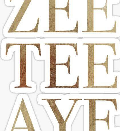 Zee Tee Aye Sticker