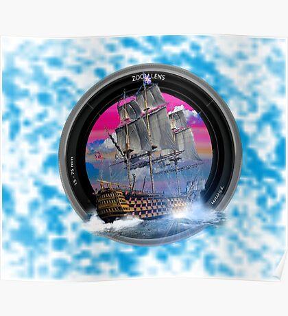 fotogradia de barco zoom Poster