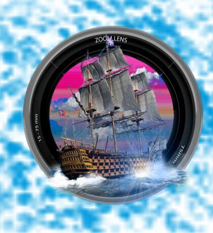 fotogradia de barco zoom Sticker