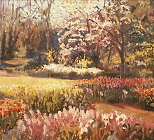 Keukenhof with Spring Tree by Michele Taylor