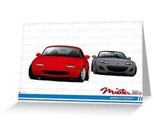 Mazda MX-5 Miata NA and NC Greeting Card