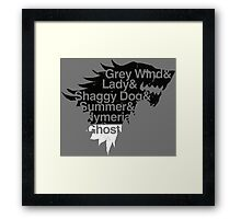 Dire Wolves Within a Direwolf Framed Print