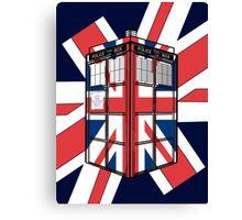 Type UK TARDIS Canvas Print