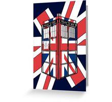 Type UK TARDIS Greeting Card