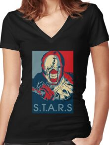 S.T.A.R.S Women's Fitted V-Neck T-Shirt