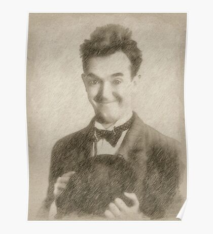 Stan Laurel Vintage Hollywood Actor Comedian Poster