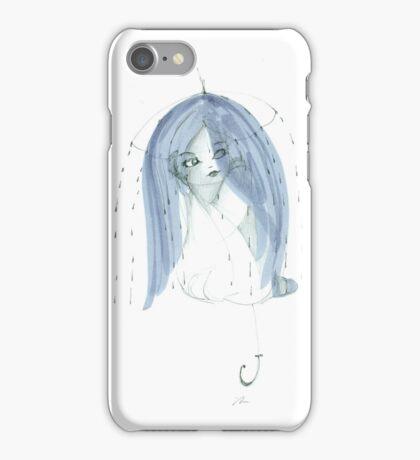 Raining Through The Umbrella iPhone Case/Skin