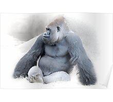 The Pensive Primate Poster