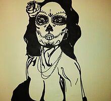 Sugar Skull Girl 1 by Adam Berardi