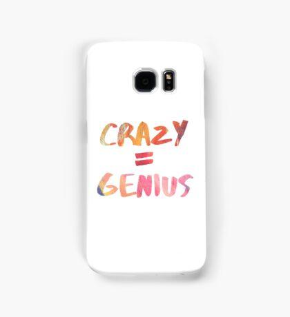 crazy=genius Samsung Galaxy Case/Skin