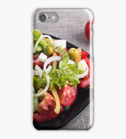 Small plate of natural salad of raw vegetables iPhone Case/Skin