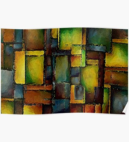 Colorful Abstract Blocks Poster